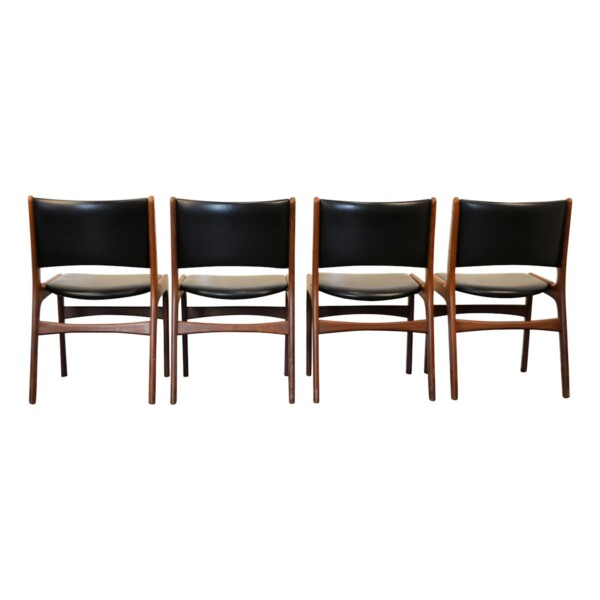 Vintage Teak Erik Buch Dining Chairs - back