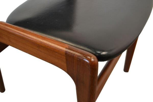 Vintage Teak Erik Buch Dining Chairs - detail