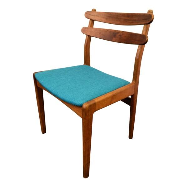 Vintage Deens design Slagelse teak/eiken stoel (detail)