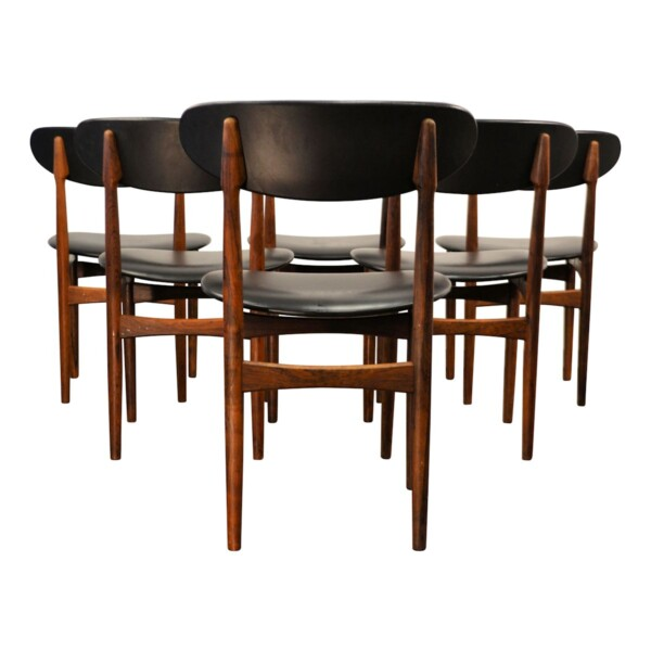 Vintage Danish Rosewood Dining Chairs - back