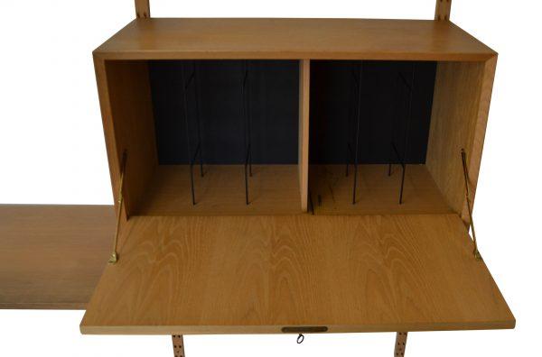 Vintage Poul Cadovius Wall Unit - viny cabinet