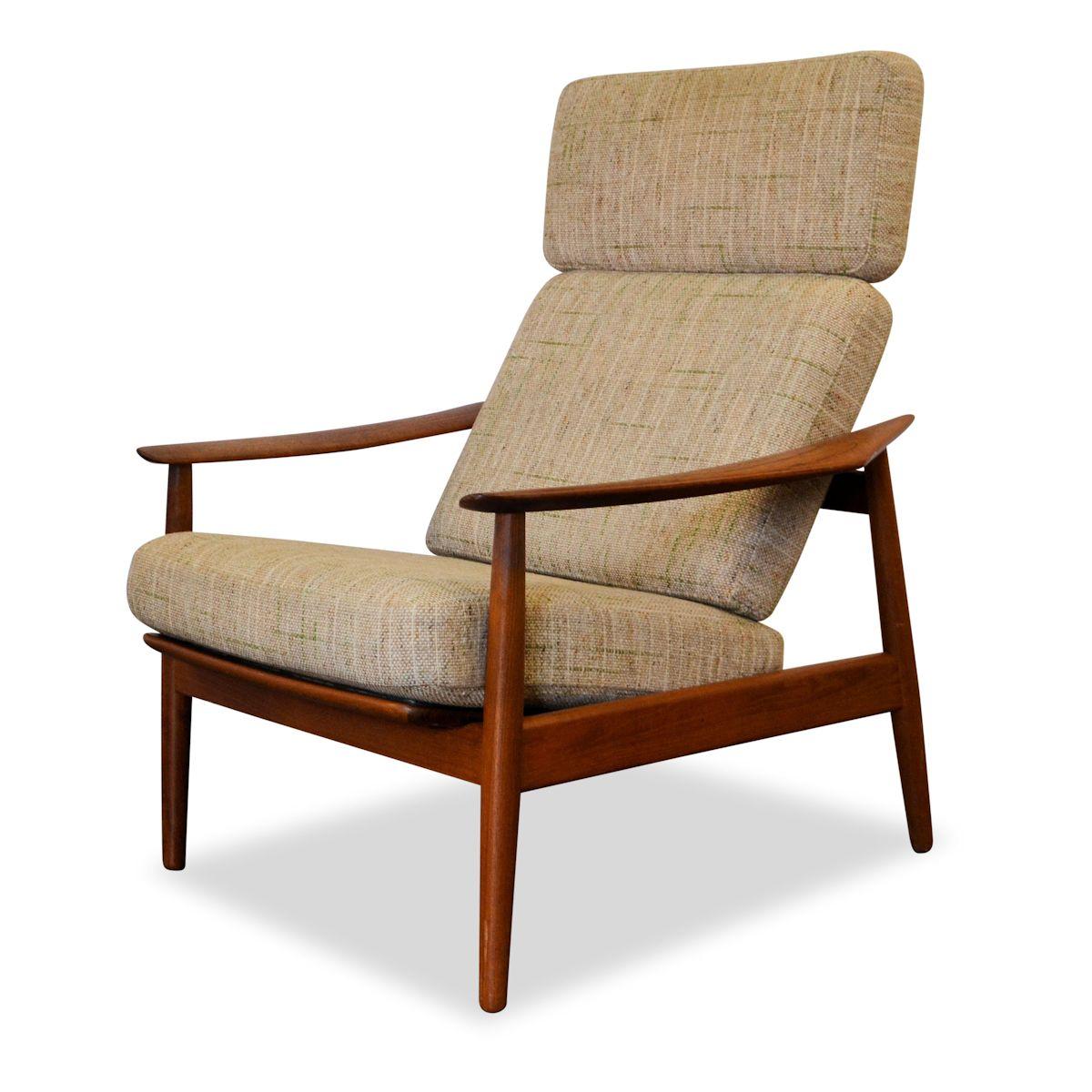 Vintage Arne Vodder FD164 teak fauteuil
