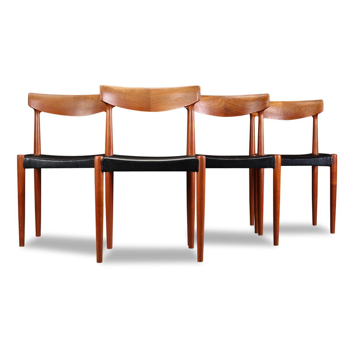 Vintage Knud Faerch teak stoelen