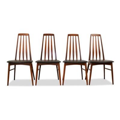 Vintage Niels Koefoed teak stoelen