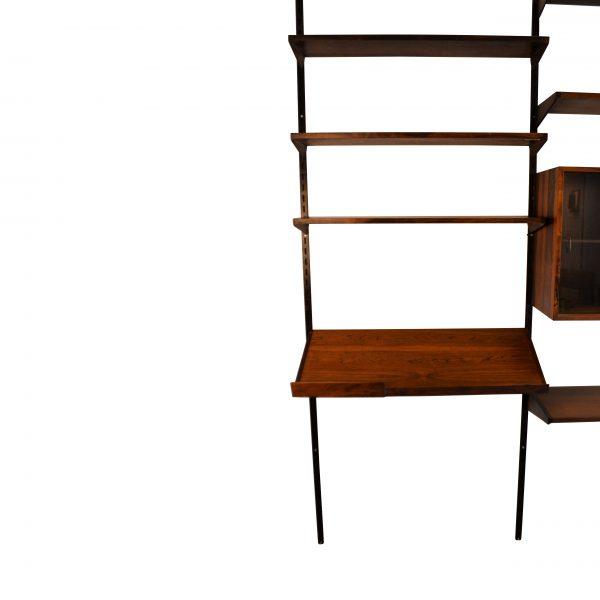 Vintage modular Palisander Kai Kristiansen wall-unit (detail)