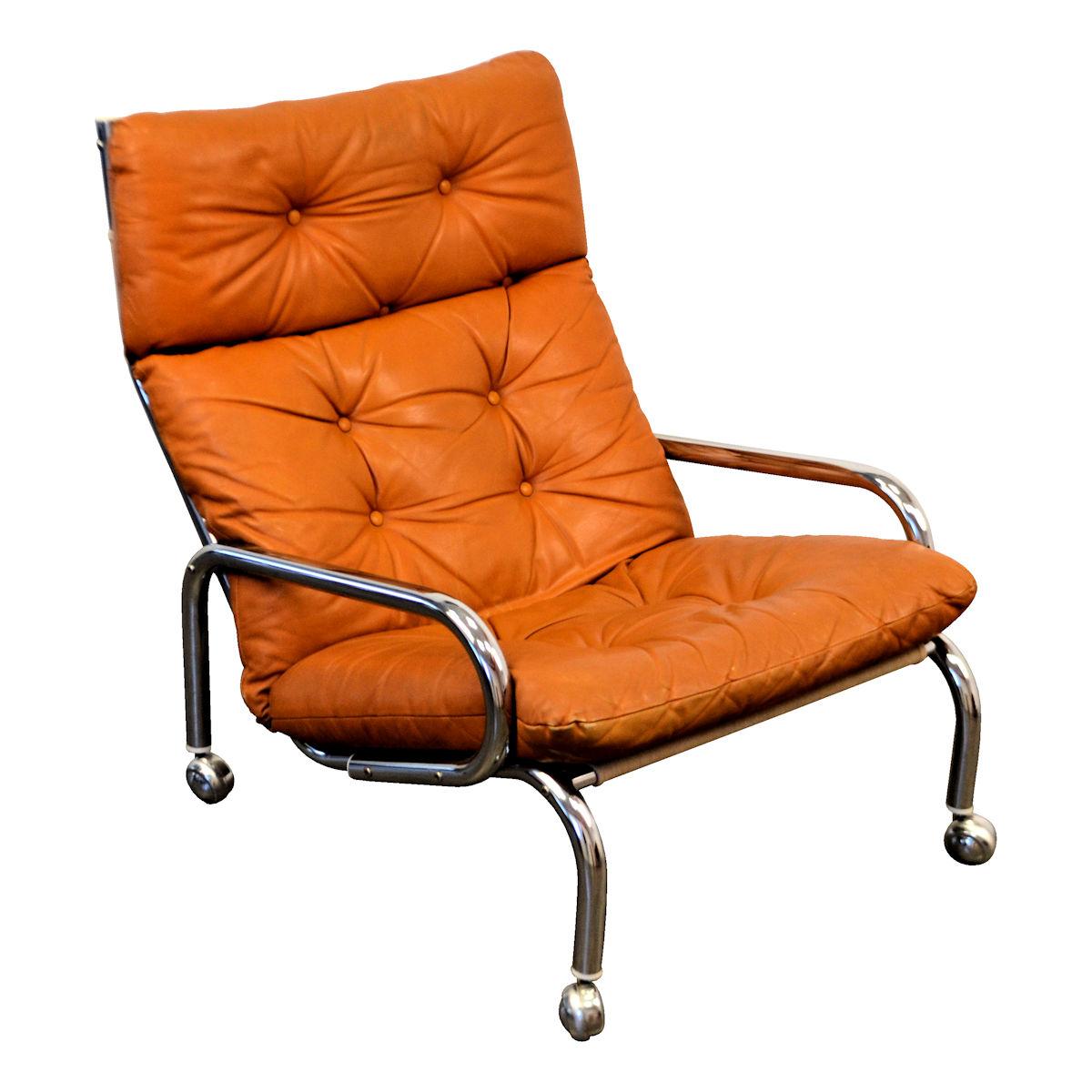 Verwonderend Vintage Leather Lounge Chair – Vintage Vibes XC-49