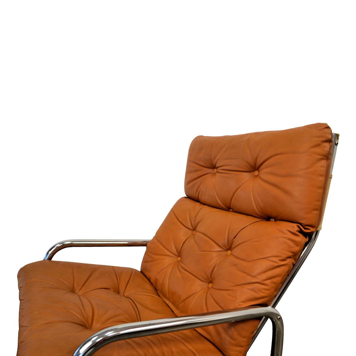 Fauteuil Design Leer.Vintage Leather Lounge Chair Vintage Vibes