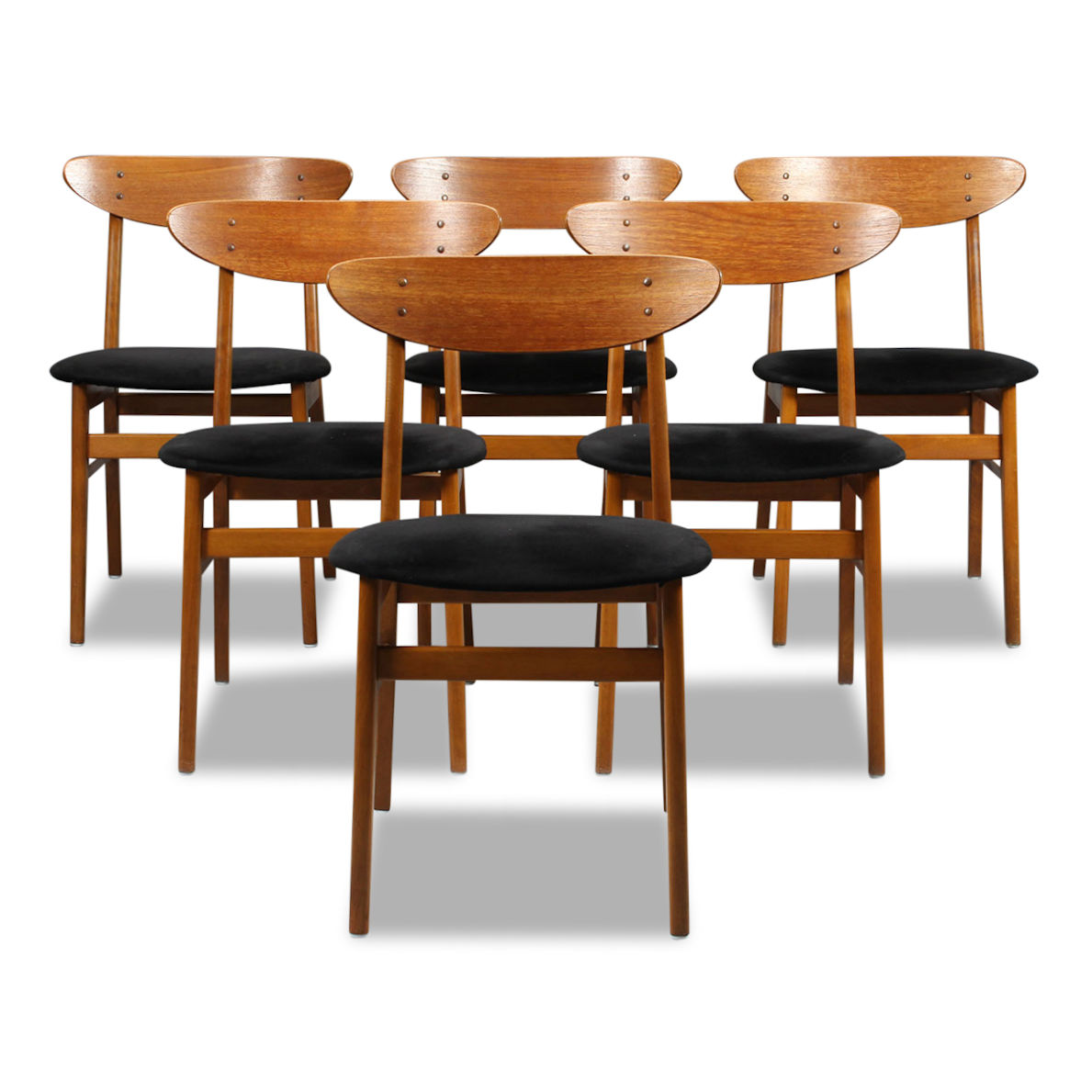 Superb Vintage Teak Farstrup Model 210 Dining Chairs Squirreltailoven Fun Painted Chair Ideas Images Squirreltailovenorg