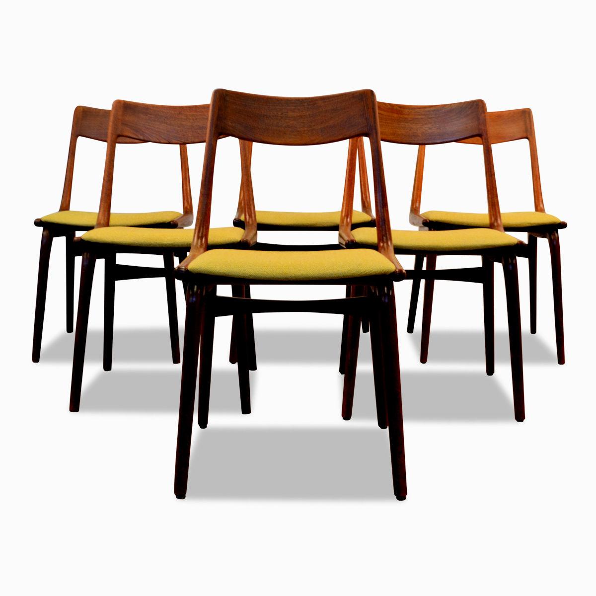 Vintage Alfred Christensen Model 370 Boomerang Chairs