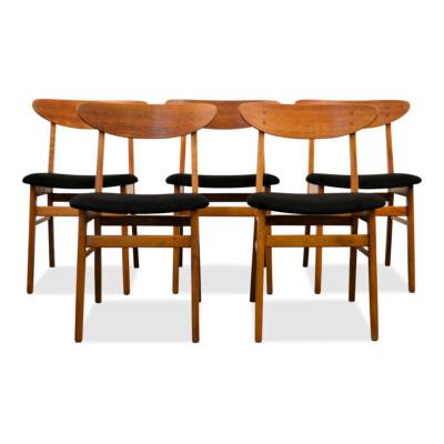 Vintage Deense Farstrup eetkamerstoelen (5)